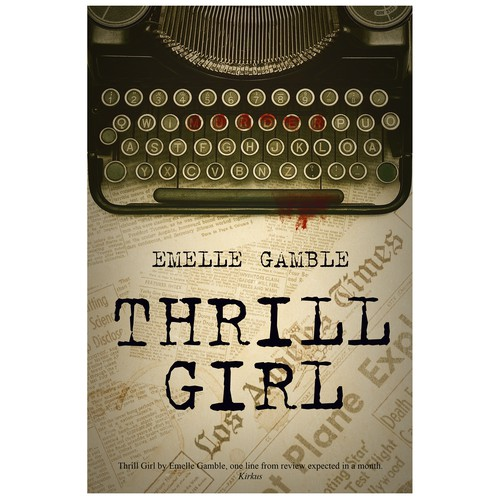 Blood design with the title 'Thrill Girl book cover'