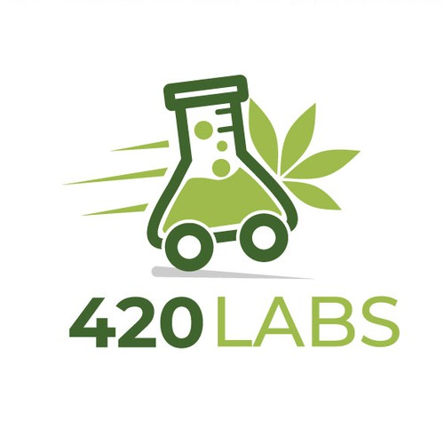 Tube logo with the title '420 Labs - Logo Design'