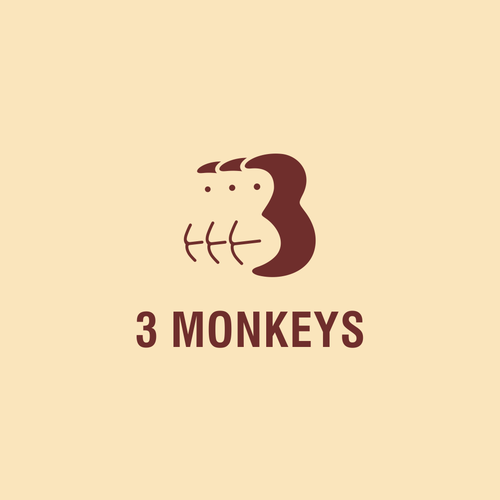 Number 3 logo with the title '3 MONKEYS'