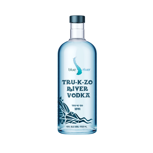 Vodka label with the title 'vodka'