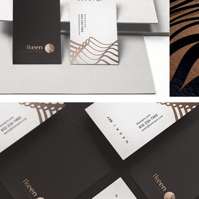 Clean, minimalist business cards for event production company