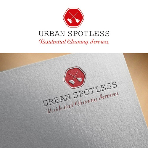 Cleaning brand with the title 'Cleaning company logo concept'