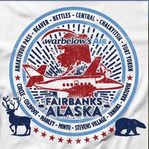 Bear t-shirt with the title 'Alaskan Air Travel T-shirt'