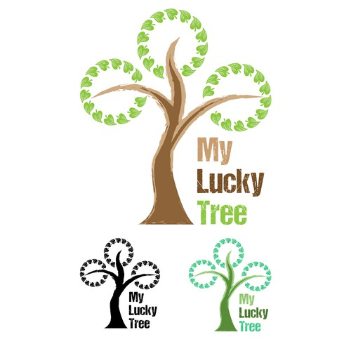 Lucky logo with the title 'Simple Logo - Lucky Tree'