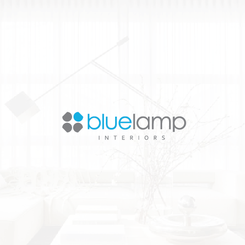 Lamp logo with the title 'Logo For Blue Lamp Interiors'
