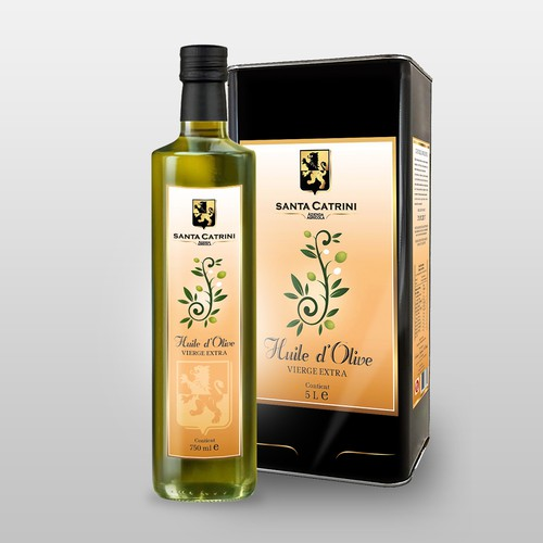 Concept label with the title 'Concept Olio d'Oliva'