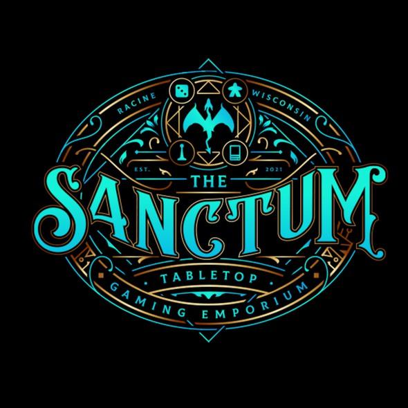 Store design with the title 'The Sanctum'