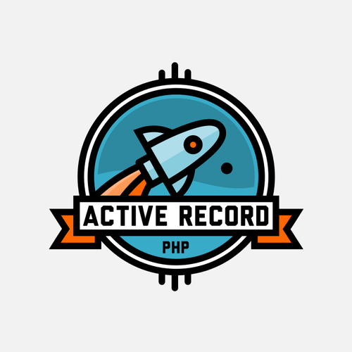 Trend logo with the title 'space-themed line-art badge logo for a programming design pattern'