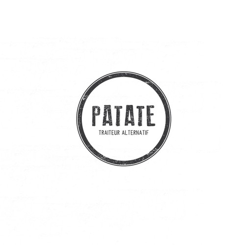 Potato design with the title 'Patate'