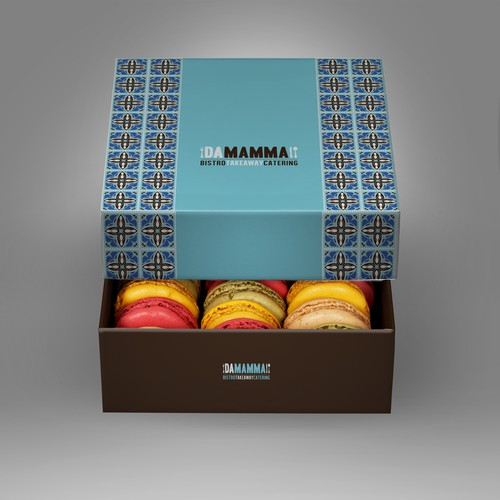 Brown packaging with the title 'Create the next product packaging for DA Mamma'