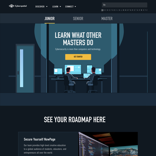 HTML design with the title 'Master curriculum page'