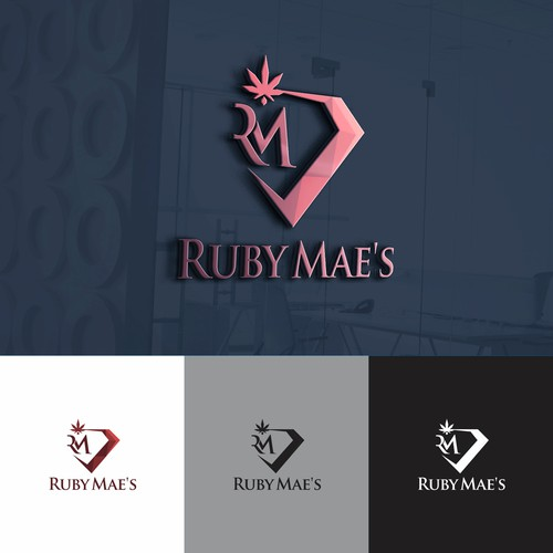 Crystals logo with the title 'Logo For RUBY MAE'S'