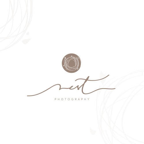 Nest design with the title 'Artistic logo for newborn photographer'