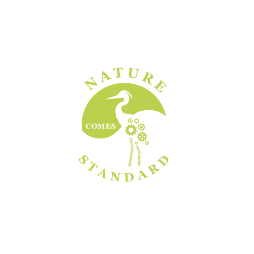 Mechanical logo with the title 'Winning design for Nature Comes Standard'