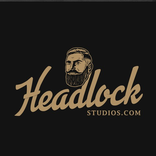 Barbershop logo with the title 'Hand drawn logo '