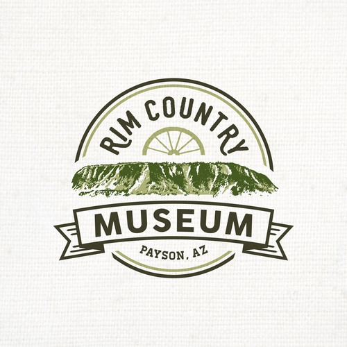 Museum logo with the title 'Classic Logo for Rim Country Museum'