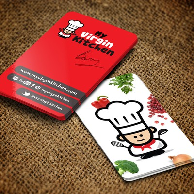 New stationery wanted for MyVirginKitchen