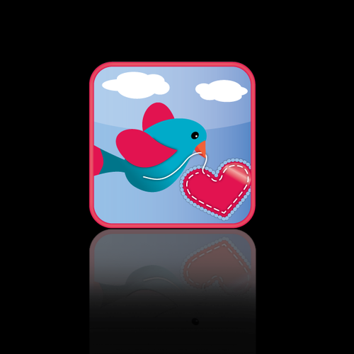 Valentine design with the title 'button or icon for Retro Valentines'