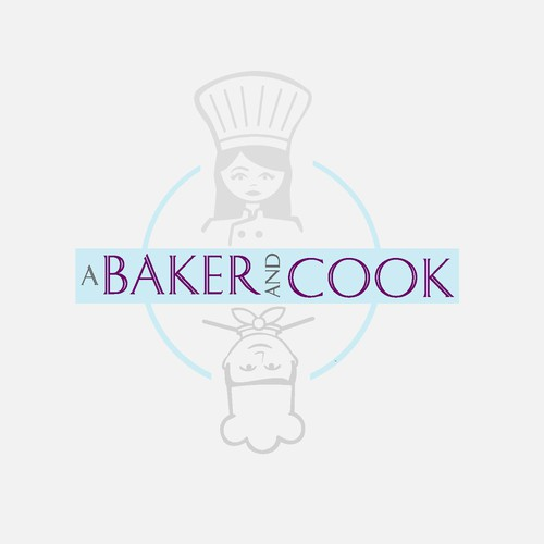 Baker design with the title 'Circle Concept for A Baker & Cook Logo'