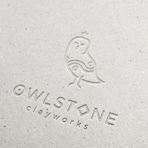 Owl brand with the title 'Logo for Artisan Tile Makers'