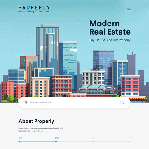 Mortgage website with the title 'Real Estate Website'