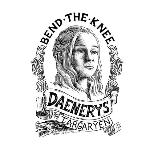 Game of Thrones design with the title 'daenerys targaryen'