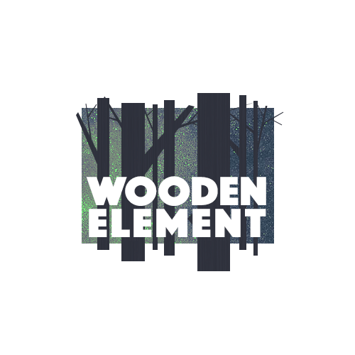 Timber logo with the title 'Logo for Wooden Element'
