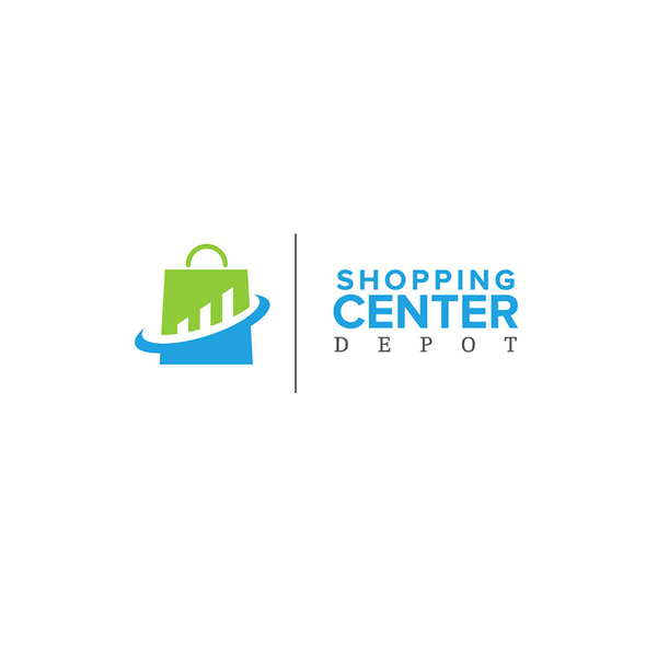 Crisp design with the title 'Shopping Center Depot'