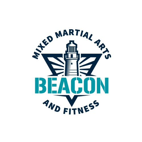 Beacon logo with the title 'Classic Logo for a Fitness Company Using a Lighthouse'