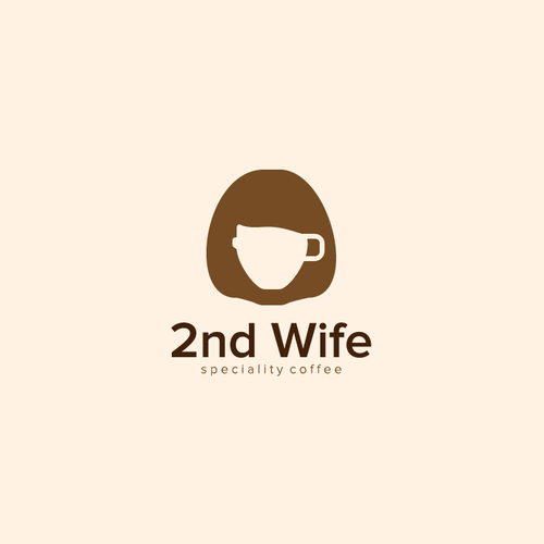 Brown and pink logo with the title '2nd Wife'