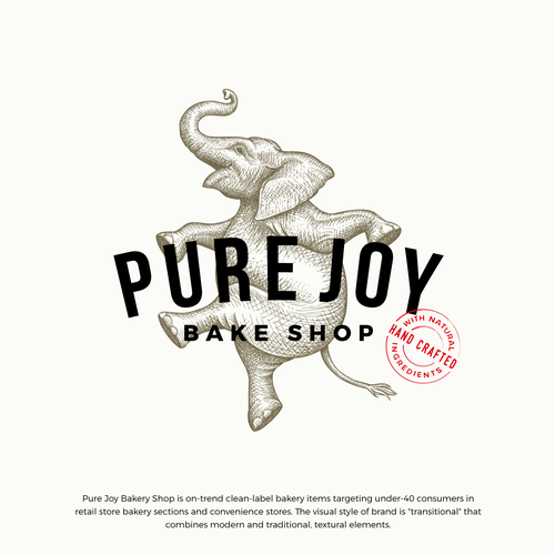 Artisan design with the title 'Pure Joy Bake Shop logo update'