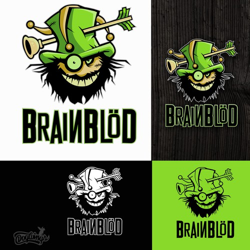 Top hat logo with the title 'Brainblöd'