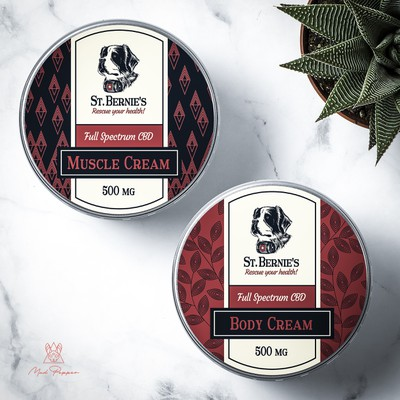 Muscle and Body Cream Label design for St. Bernie's
