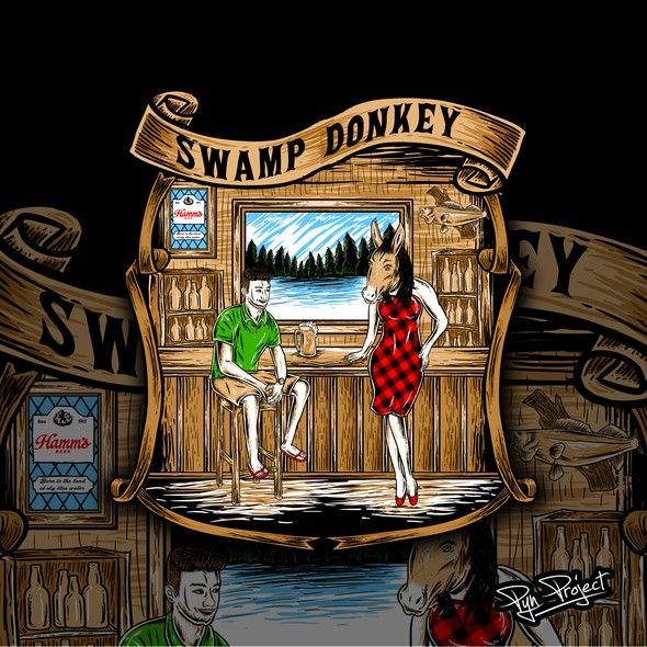 Men's t-shirt with the title 'SWAMP DONKEY'