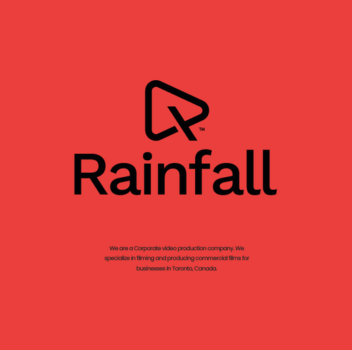 Red design with the title 'Rainfall'