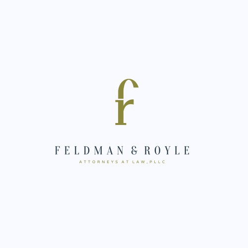 Gavel logo with the title 'Feldman & Royle'