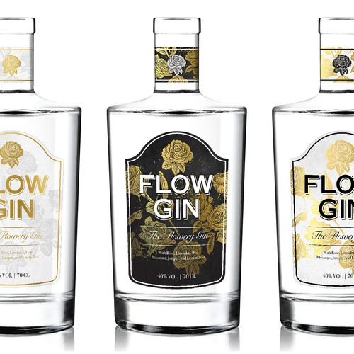 Neat design with the title 'A Vintage Style Label For A Premium Gin'