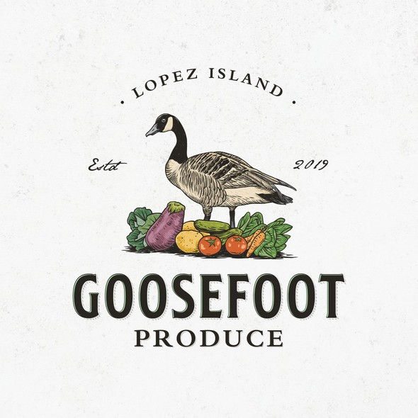 Vegetable logo with the title 'Goosefoot Produce'