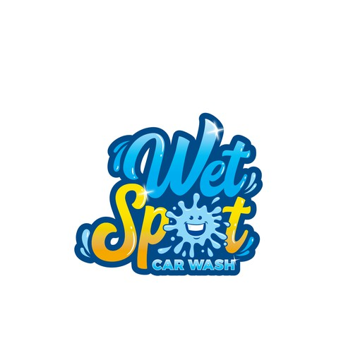 Car wash design with the title 'Wet spot'