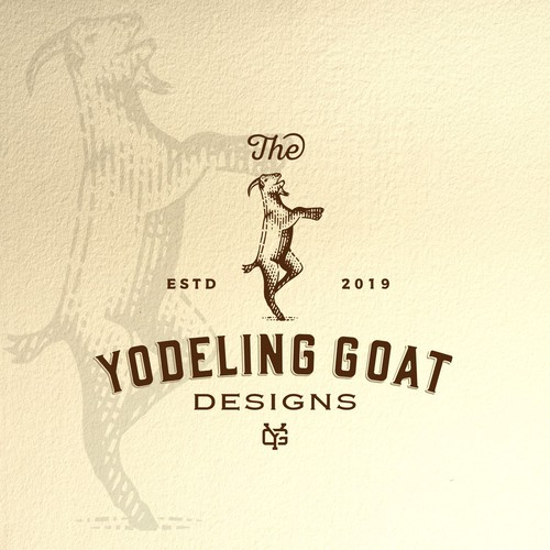 Goat farm logo with the title ' logo design for Industrial Style Furniture'