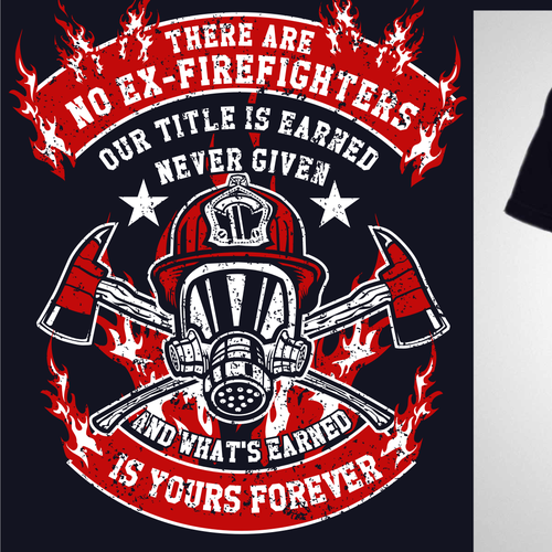 Fire t-shirt with the title 'Shirt For Firefighters'