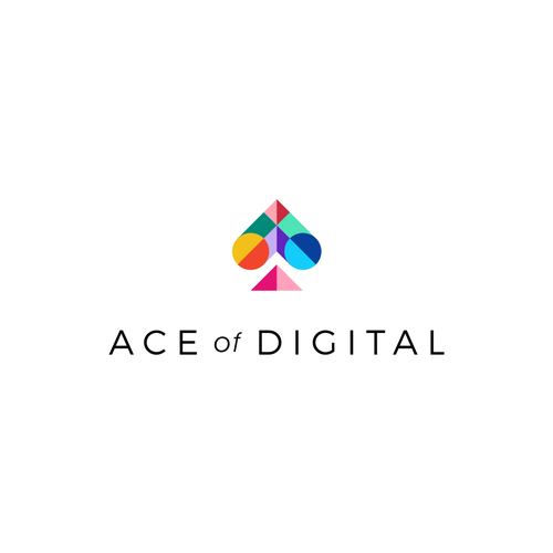 Pattern logo with the title 'Logo for Ace of Digital'