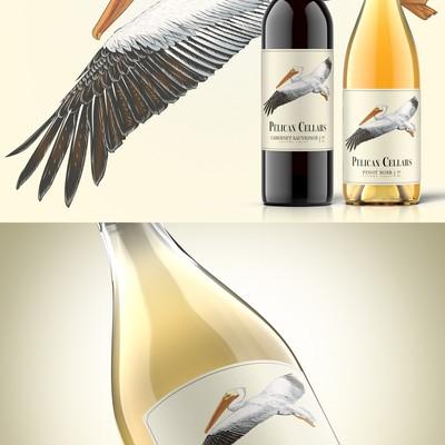 鹈鹕酒窖,定制葡萄酒标签设计
