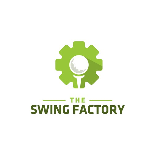 Gear logo with the title 'Golf Factory Gear'