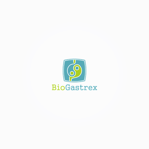Yin-yang logo with the title 'BioGastrex Logo'