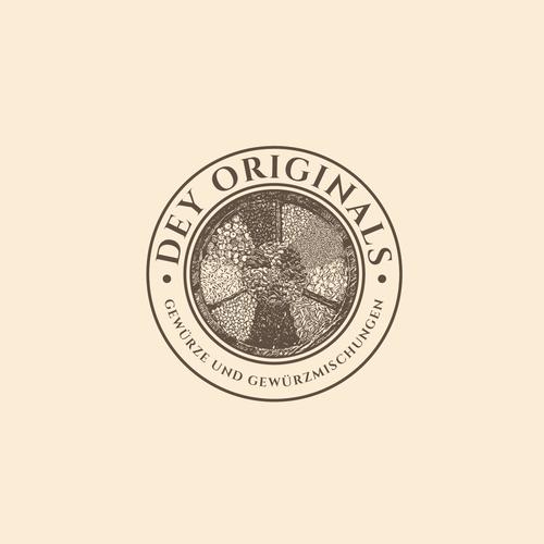 Spice design with the title 'Logo concept for Dey Originals'