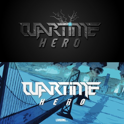 Thunderbolt design with the title 'wartime hero'