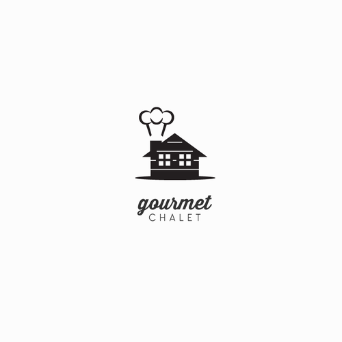 Culinary design with the title 'Cute Gourmet Food Website Logo'