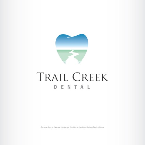 Creek logo with the title 'Logo winner for dental bussiness'