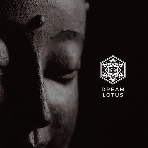Meditation design with the title 'Mandala logo design for Dream Lotus'